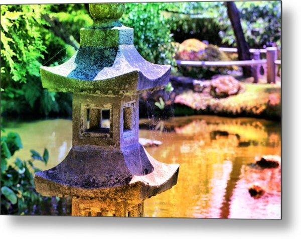 Rainbow Pagoda Metal Print