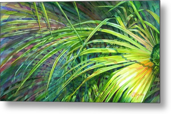 Rainbow Palms Metal Print