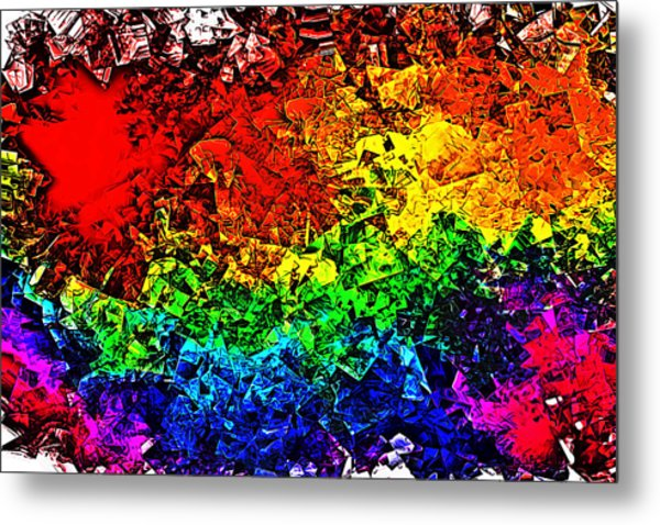 Rainbow Pieces Metal Print