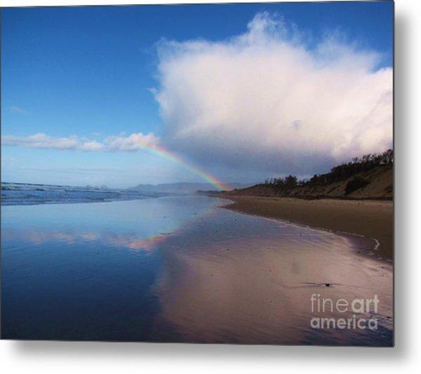 Rainbow Reflection Metal Print