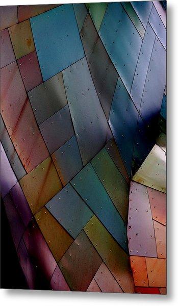 Rainbow Shingles Metal Print