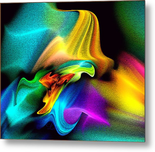 Rainbow Splashes Metal Print
