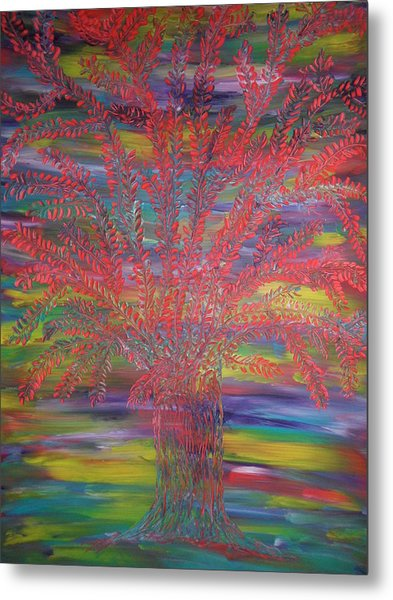 Rainbow Tree Metal Print by Nico Bielow