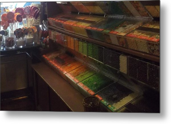 Rainbow Vintage Jelly Bean Shop Metal Print