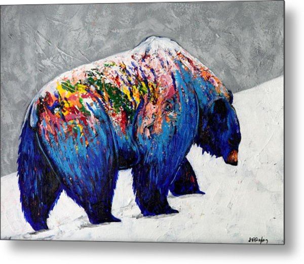 Rainbow Warrior: Heavy Going Grizzly Painting By Joe Triano