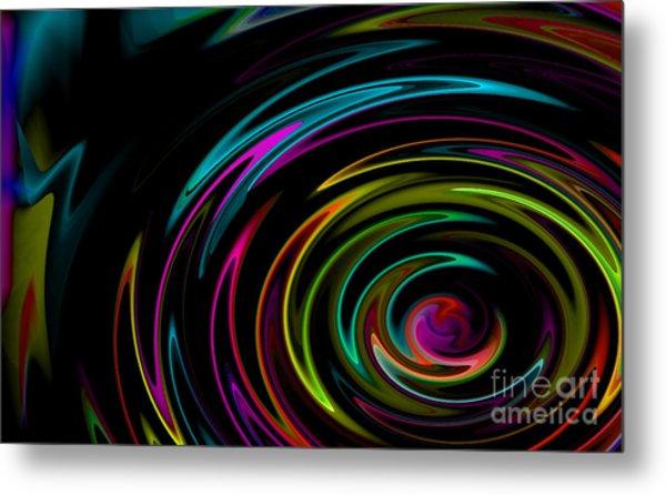 Rainbow Whirlpool Metal Print