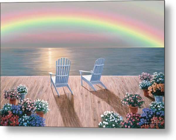Rainbow Wishes Metal Print