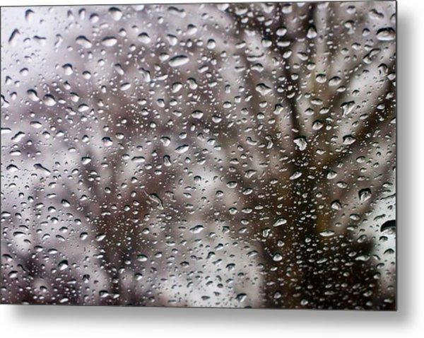 Raindrops Metal Print by Richie Stewart