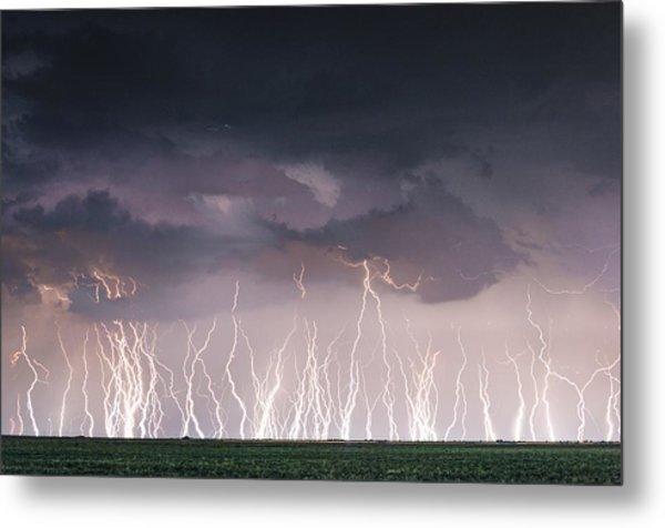 Raining Electricity Metal Print