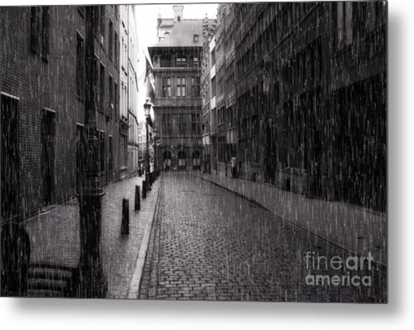 Raining In Amsterdam Metal Print