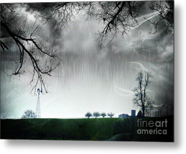 Rainy Day Farm Ver-5 Metal Print