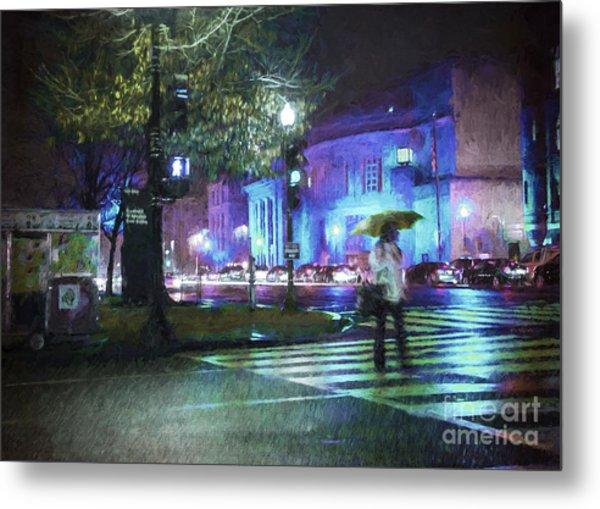 Rainy Night Blues Metal Print