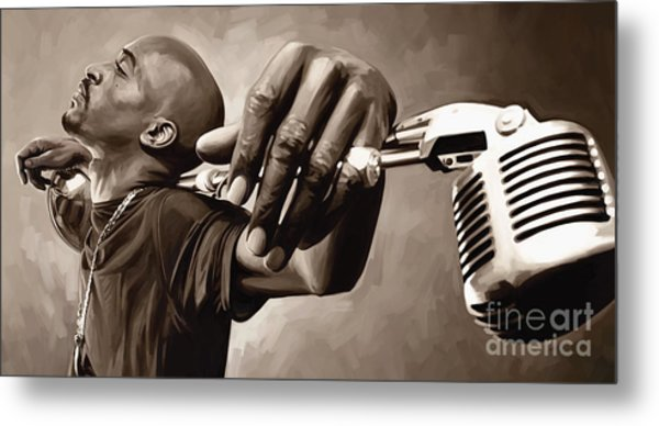 Rakim Artwork Metal Print