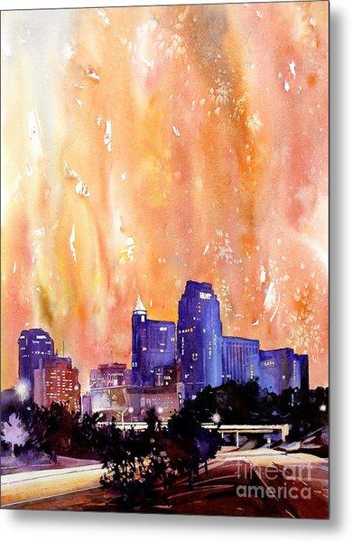 Raligh Skyline Sunset Metal Print