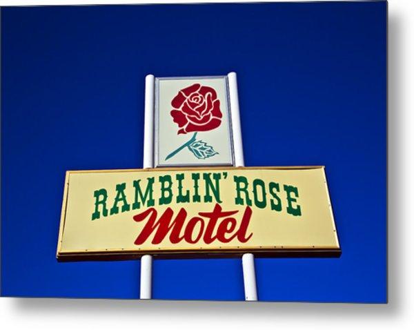 Ramblin' Rose Motel Metal Print