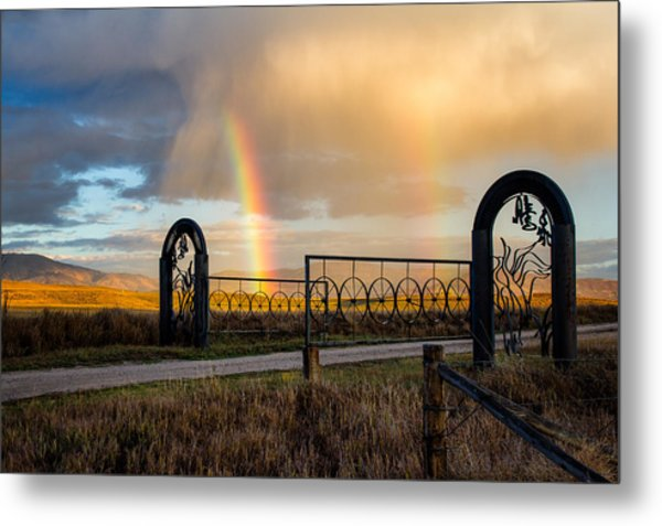 Ranch Rainbow Metal Print