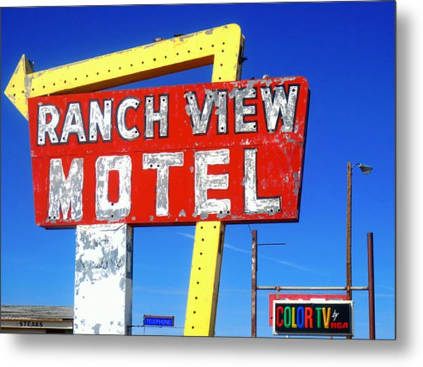 Ranch View Motel Metal Print