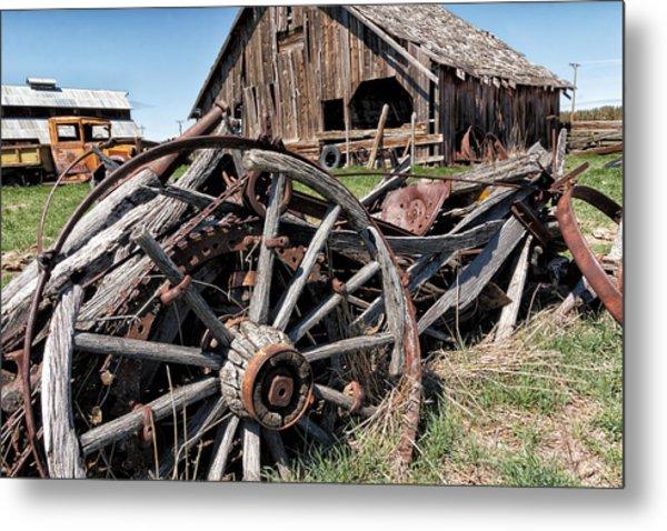 Ranch Wagon Metal Print