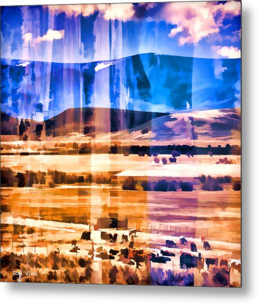 Ranchland Abstracted  Metal Print