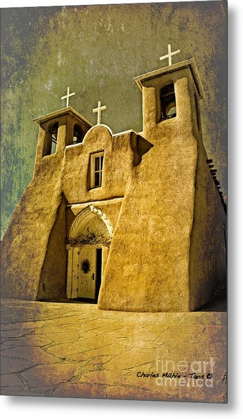 Ranchos Church In Old Gold Metal Print