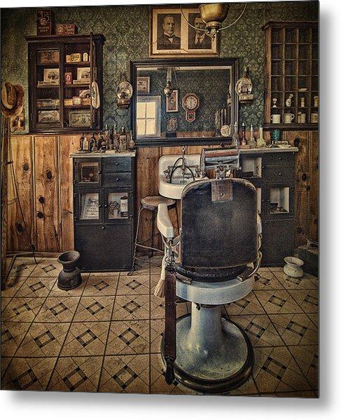 Randsburg Barber Shop Interior Metal Print
