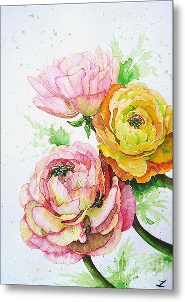 Ranunculus Flowers Metal Print