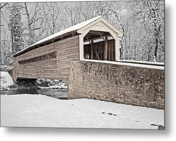 Rapps Bridge In Winter Metal Print
