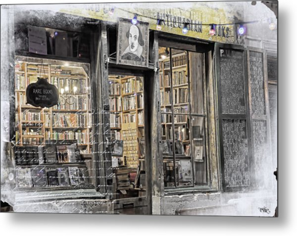 Rare Books Latin Quarter Paris France Metal Print