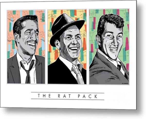 Rat Pack Pop Art Metal Print