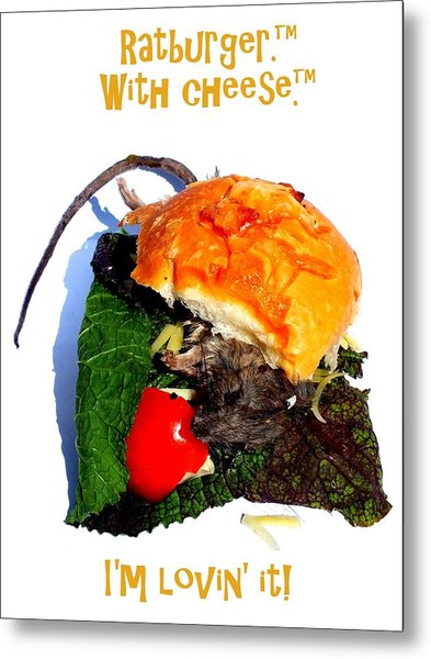 Ratburger With Cheese Metal Print