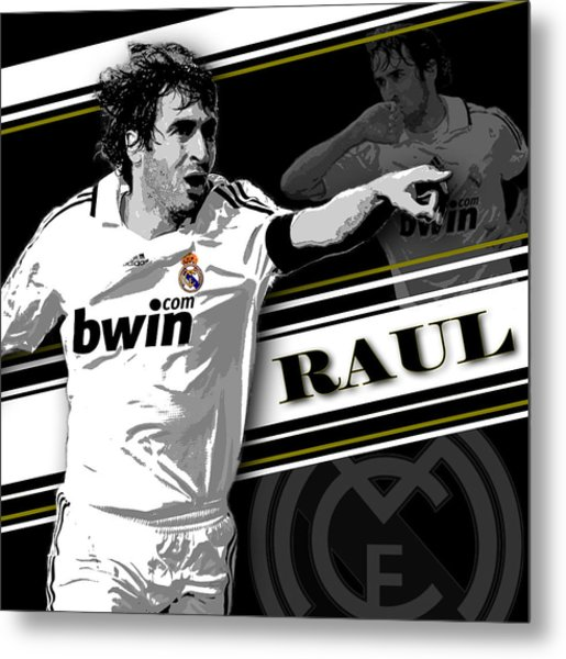 Raul Real Madrid Print Metal Print