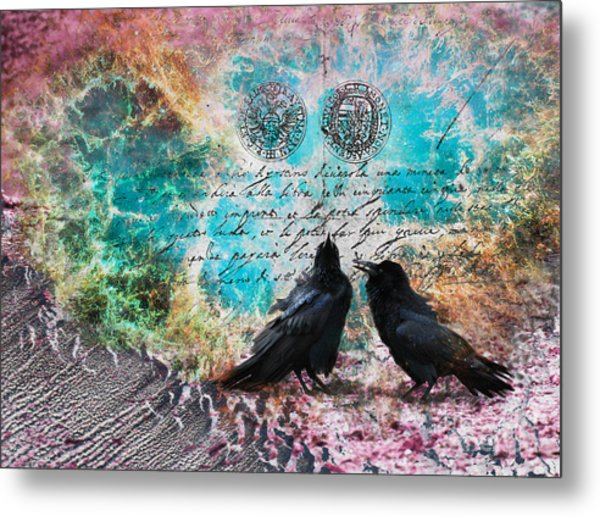 Raven Whispers In The Nowhere Metal Print