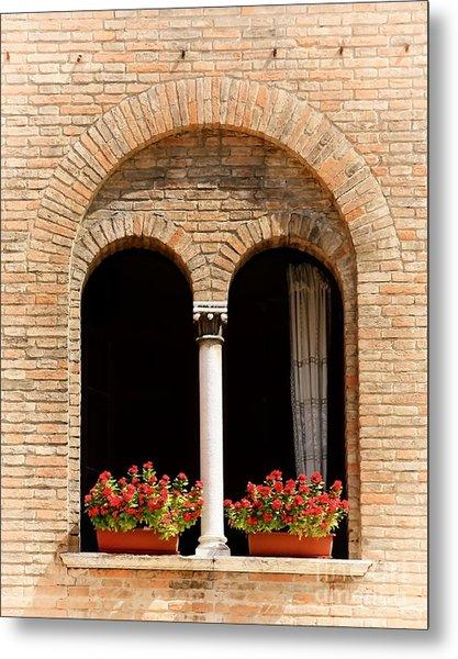 Ravenna Window Metal Print