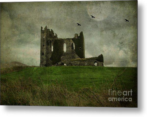 Raven's Castle Metal Print