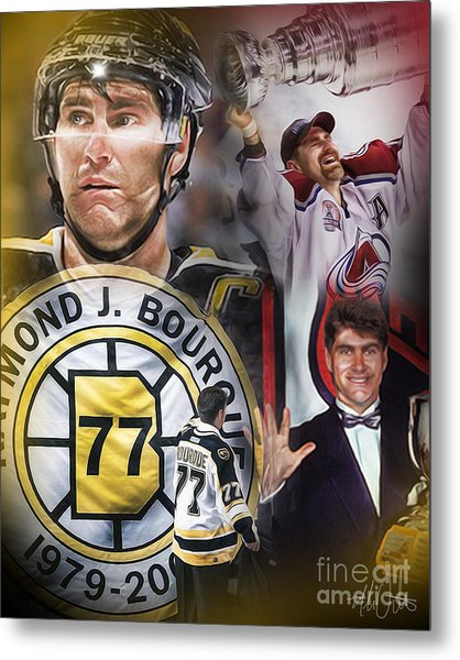 Metal Print featuring the painting Ray Bourque by Mike Oulton a21329b89