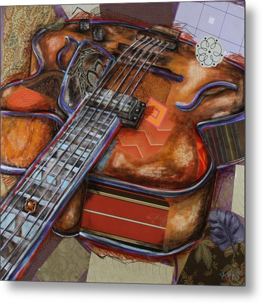 Ray The Guitar Metal Print