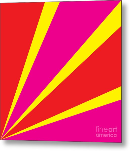 Rays Of Color Pink And Red Metal Print by Vector Goodi