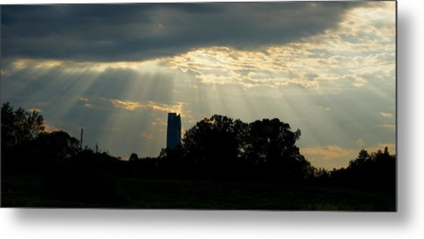 Rays Of Hope In Oklahoma Metal Print