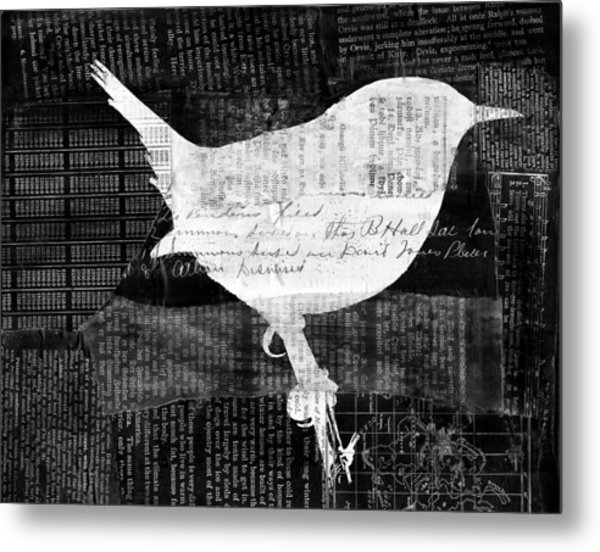 Reader Bird Metal Print