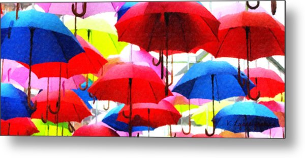 Ready For Rain Metal Print