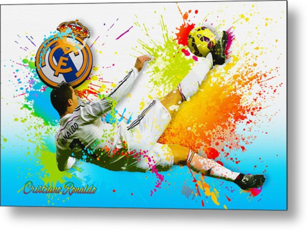 Real Madrid - Cr Metal Print