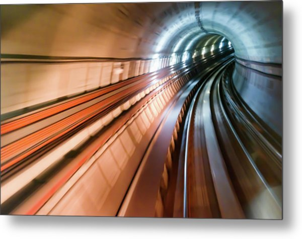 Real Tunnel With High Speed Metal Print by Fredfroese