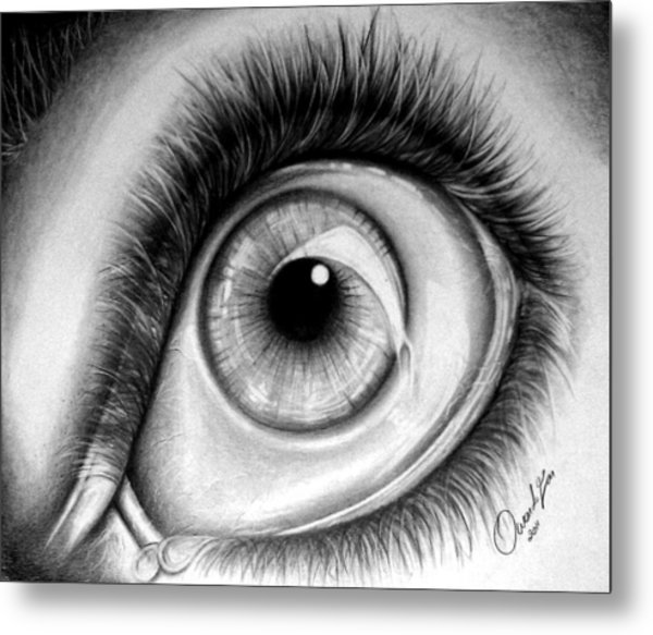 Realistic Eye Metal Print