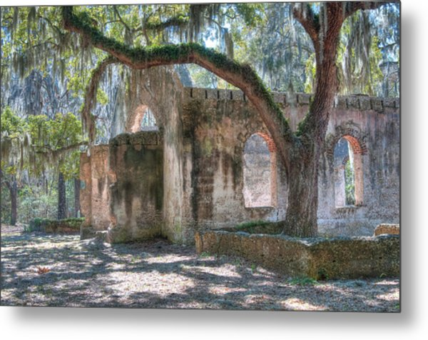 Rear View Of The Chapel Of Ease Metal Print