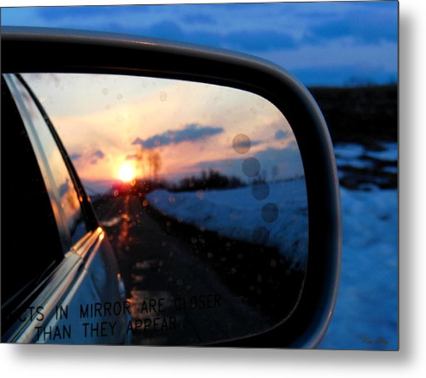Rearview Metal Print
