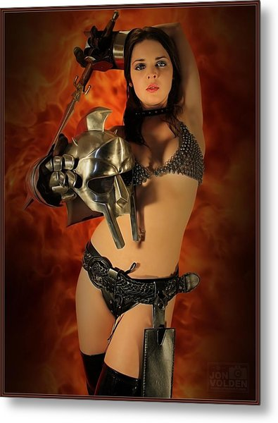 Rebel Fire Metal Print