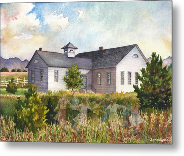 Recess At The Cherryvale Schoolhouse Metal Print