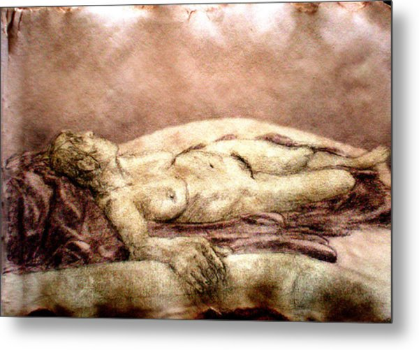 Recline 1 Metal Print by Steve Spagnola