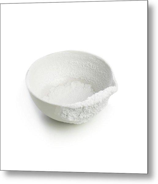 Recrystallised Rock Salt Metal Print by Science Photo Library