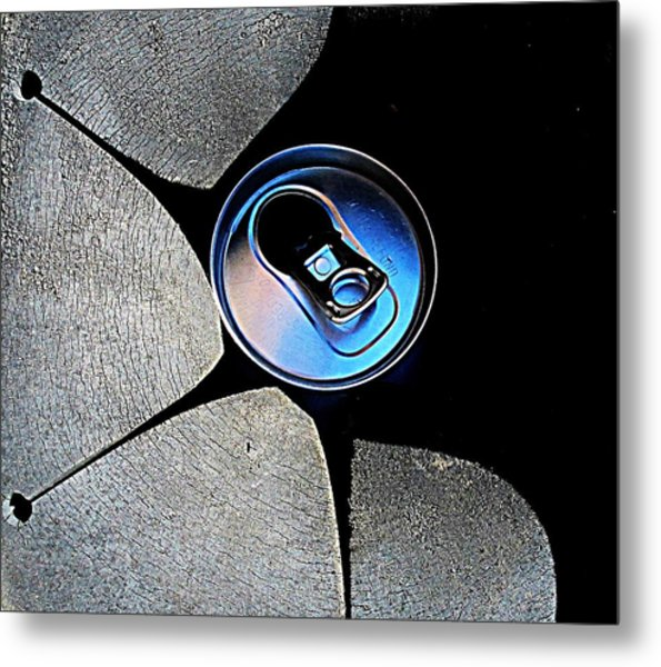 Recycled Can In A Recycle Bin Metal Print